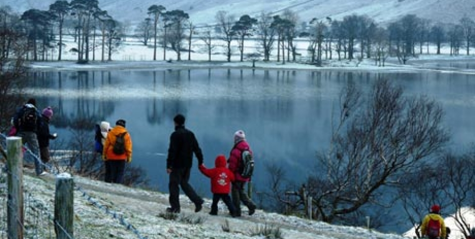 Stunning Lake District scenery in winter